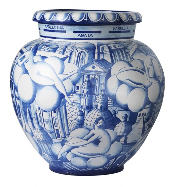 Richard-Ginori-gio-ponti--Vase Donne-e-Architetture