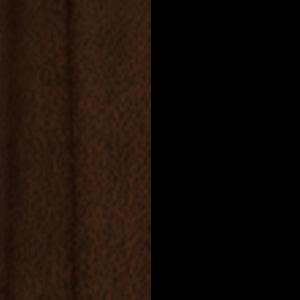 Ahornkufen dunkel mit schwarzem Gestell