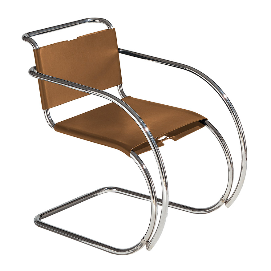 mr 20 freischwinger leder von ludwig mies van der rohe knoll international markanto. Black Bedroom Furniture Sets. Home Design Ideas