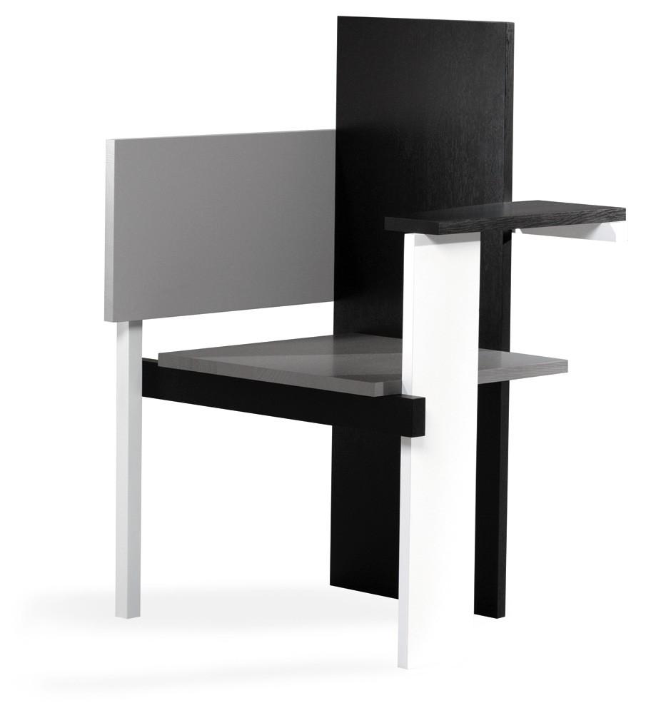 Asymmetrischer stuhl casamania  Berlin Chair- von Gerrit Rietveld - Rietveld Originals | Markanto