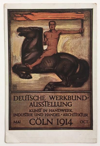 Postkarte-Werkbundausstellung-1914-Peter-Behrens