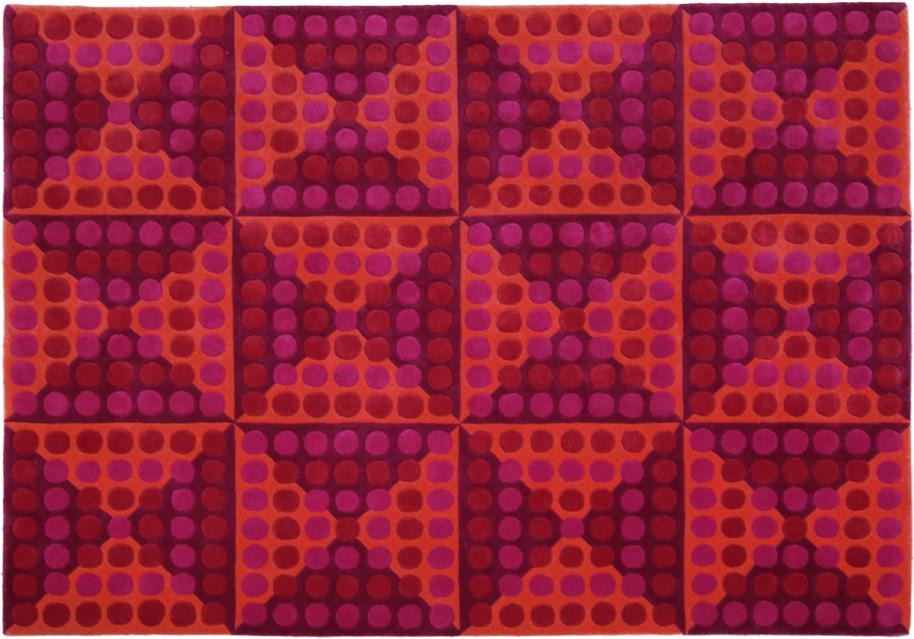 Teppich von Verner Panton aus der Spiegel Kantine   Markanto