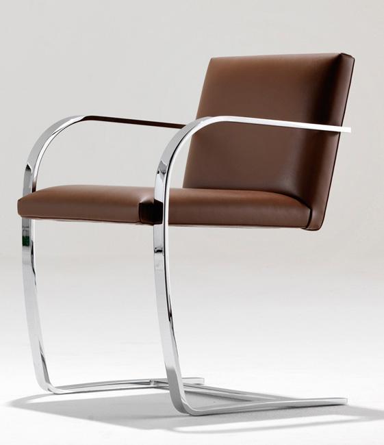 brno stuhl aus flachstahl i ludwig mies van der rohe i. Black Bedroom Furniture Sets. Home Design Ideas