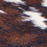 Kuhfell schwarz-braun-weiß gefleckt