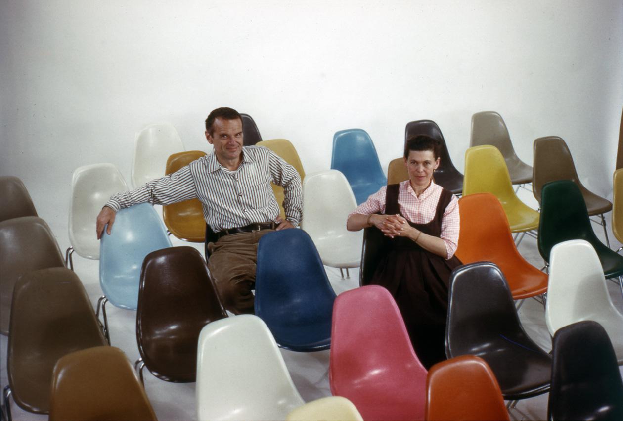 Vitra Fiberglass Chairs