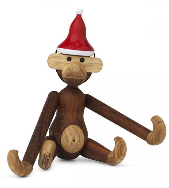 Affe mit Weihnachtsmütze