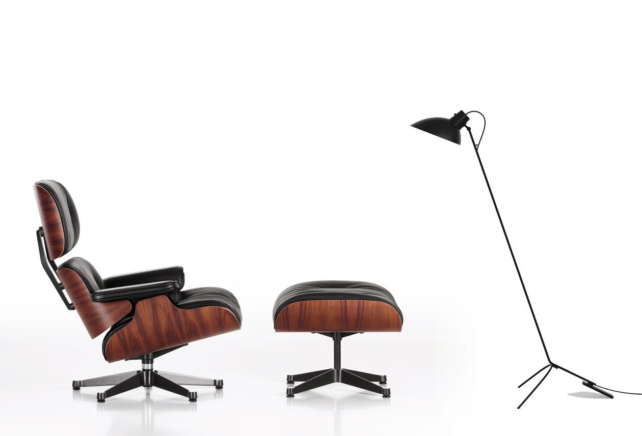 Eames-Lounge-Chair und VV-Leuchte