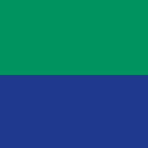 Sitz dunkelblau, Rücken grün