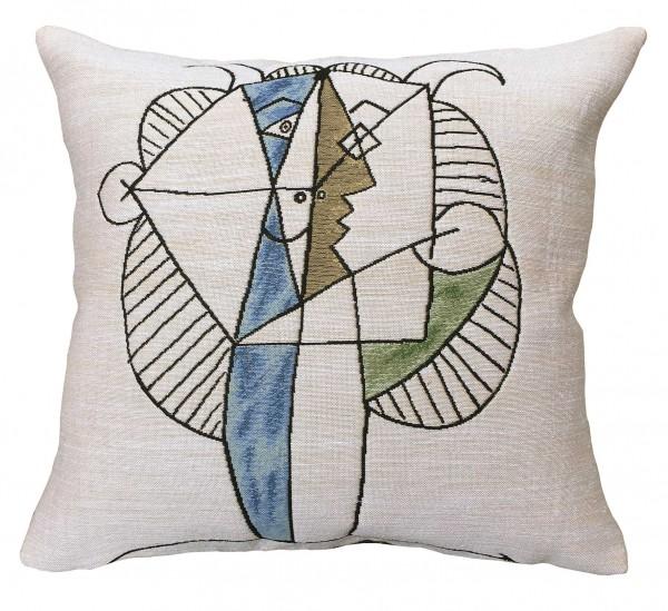 Jules-Pansu-Picasso-kissen-Tête-faune-Chevelu