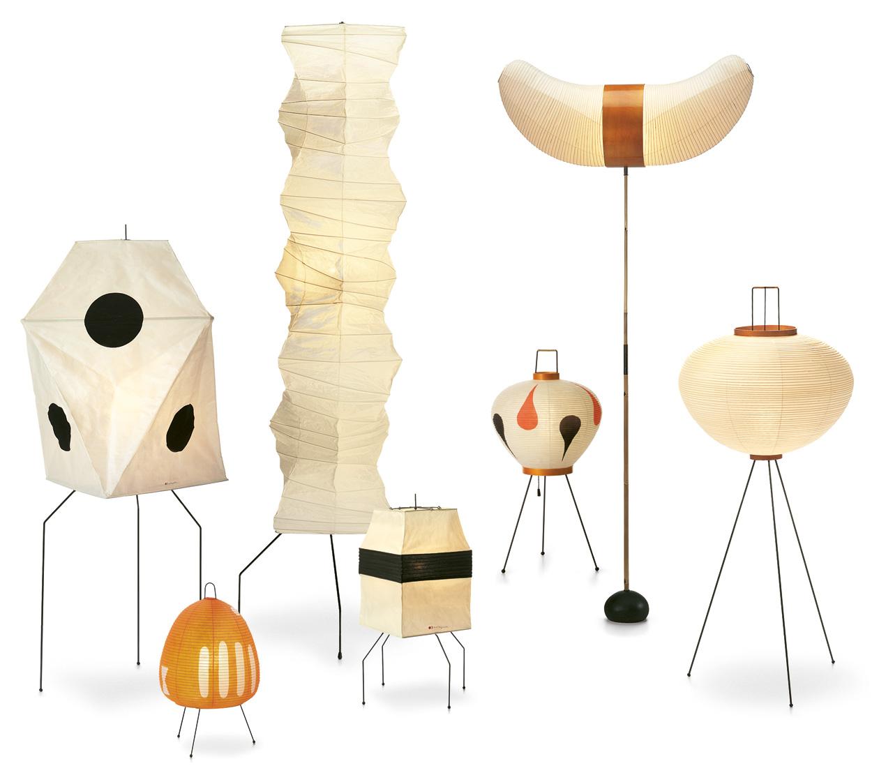 Akari-Lampen von Isamu Noguchi