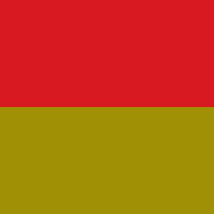 Sitz curry, Rücken rot