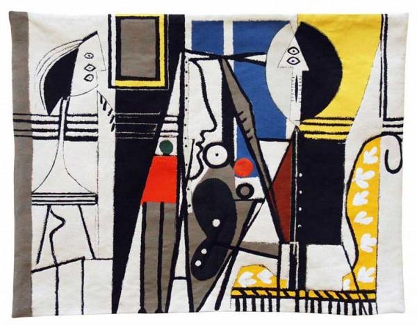 Jules-Pansu-Picasso-Wandteppich-Le-Peintre