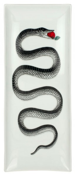Piero-Fornasetti-Porzellantablett-Serpente