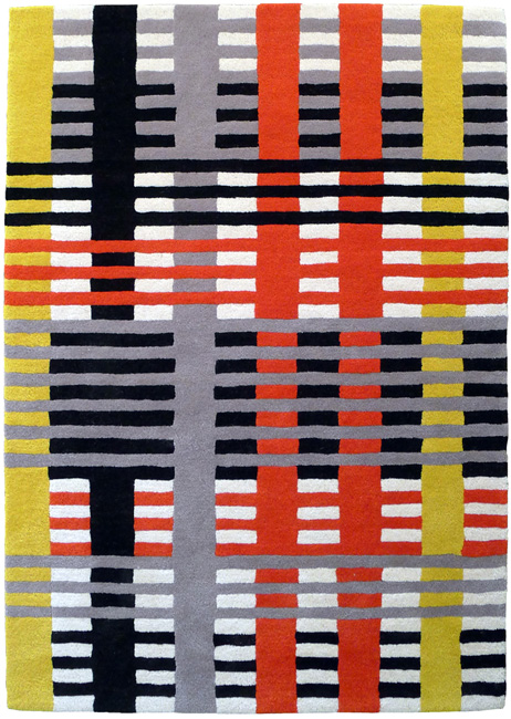 bauhaus teppich von anni albers christopher farr editions markanto. Black Bedroom Furniture Sets. Home Design Ideas