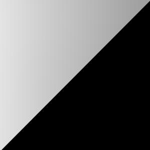 Aluminium poliert mit schwarzen Kanten