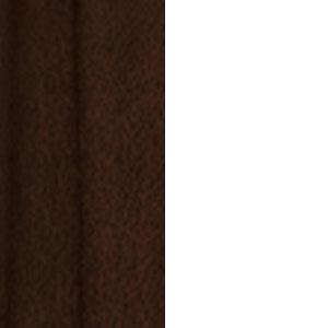 Ahornkufen dunkel mit weißem Gestell