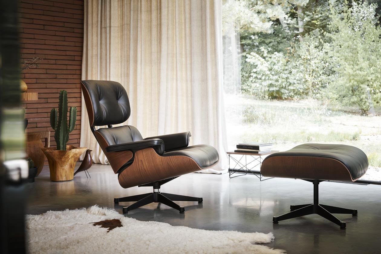 Vitra Eames Lounge Chair Mahagoni