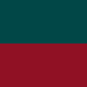 Sitz burgundy, Rücken grün